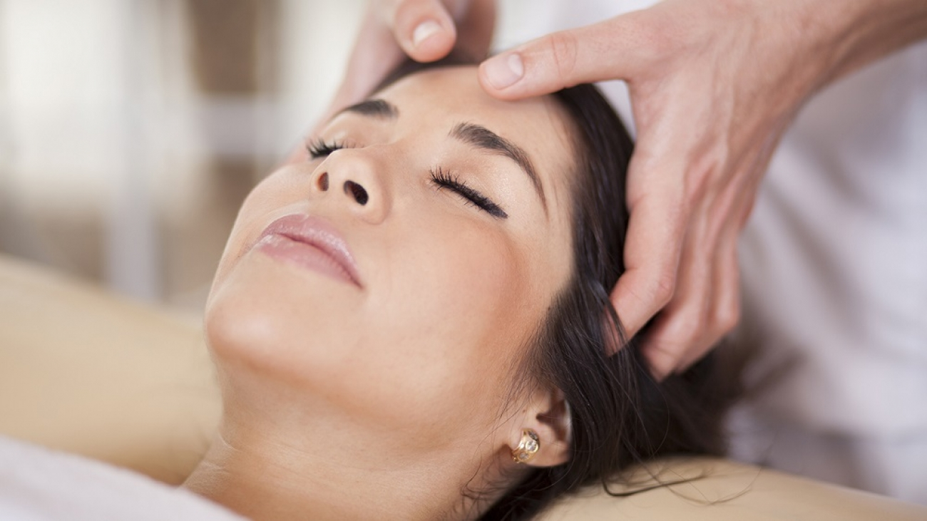 Relaxed woman at a health spa